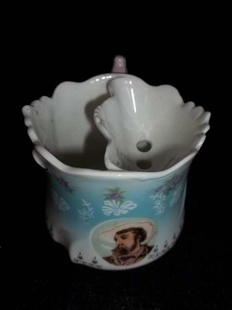 6: Hand Painted Mustache Cup