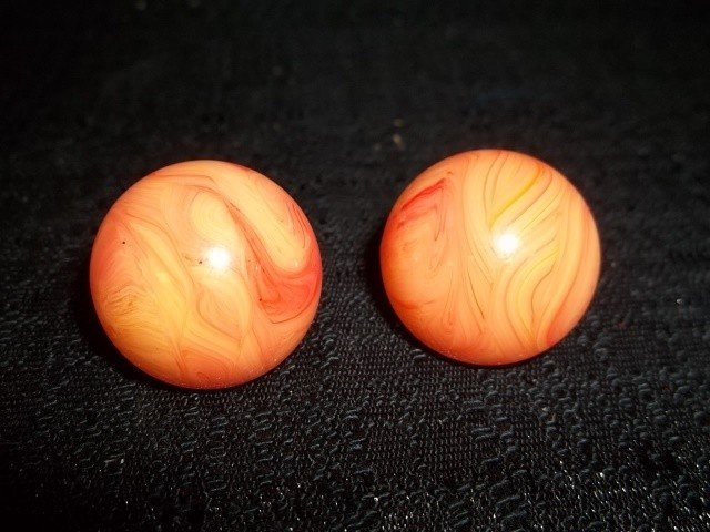 22: Orange Sherbert Vogue Earings