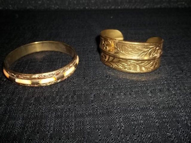 23: 2 Brass India Bracelets