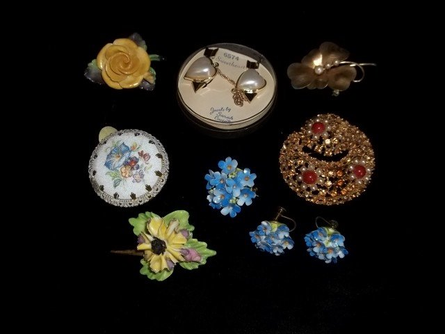 93: 12kt gf, West Germany, Coventry Costume Jewelry Lot