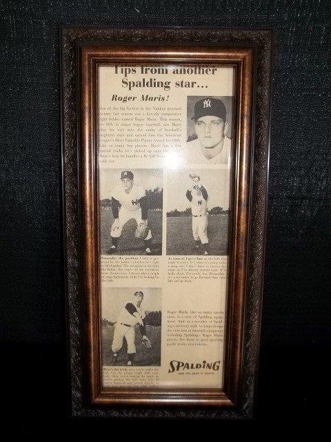 6: Roger Maris Spalding Ad