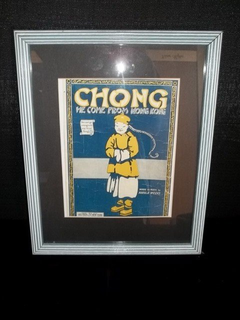 7: Chong Old Framed Sheet Music