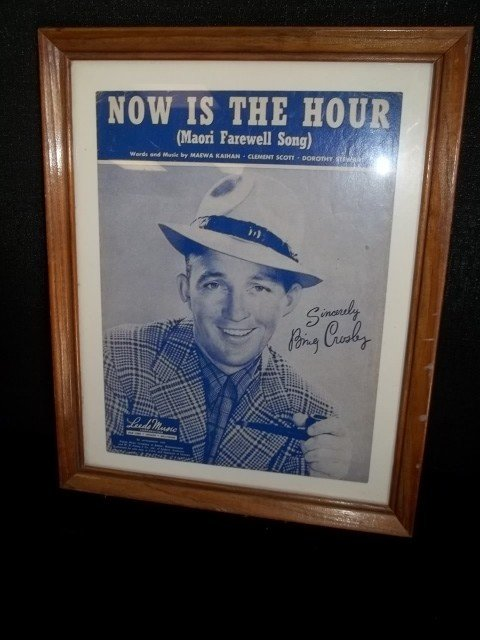 9: Bing Crosby Framed Sheet Music