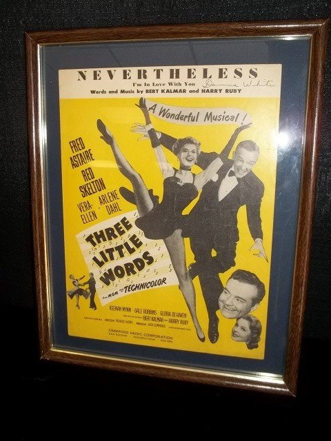 10: Fred Astaire Framed Sheet Music