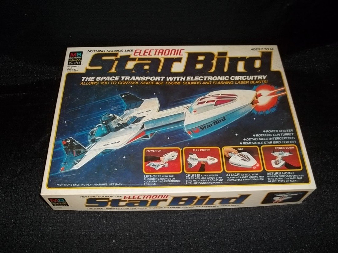 9: 1978 Milton Bradley Electronic Starbird Spaceship in