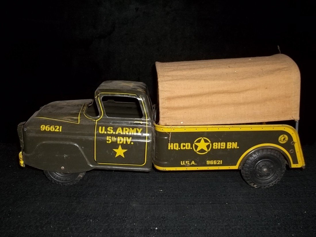 22: Marx Army 5th Div Canvased Truck