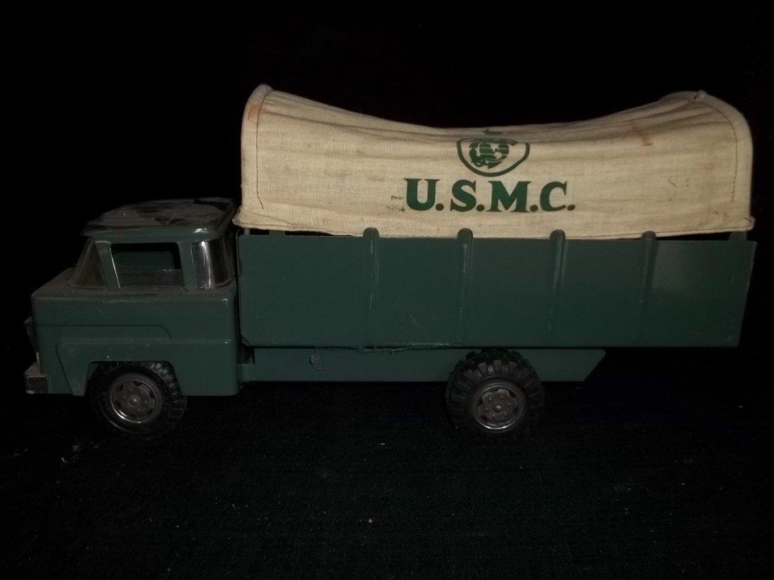 24: Old Marx USMC Transport Canvased Truck