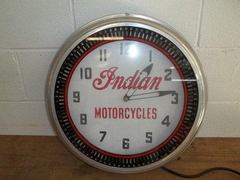 272: Nice Old Indian Motorcycles Neon Clock - 3
