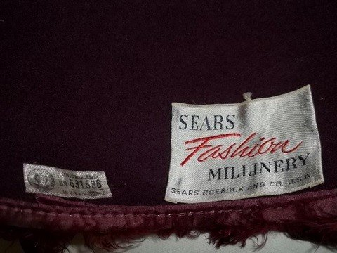 81: Vintage Glenover Henry Pollak Red Feather Wool Hat - 2