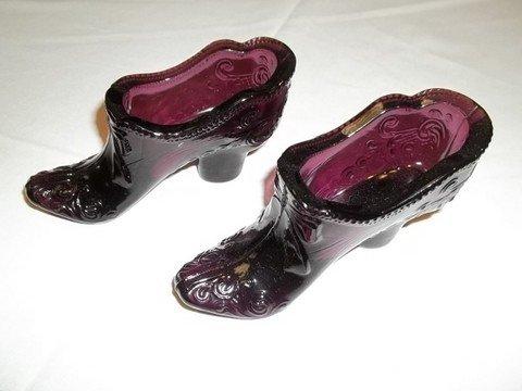 17: 2 Purple Glass Shoes