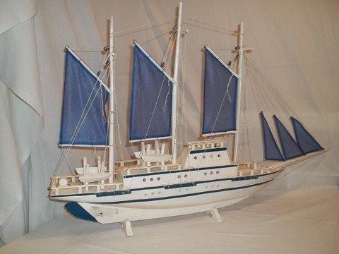 236: Wood Model Ship