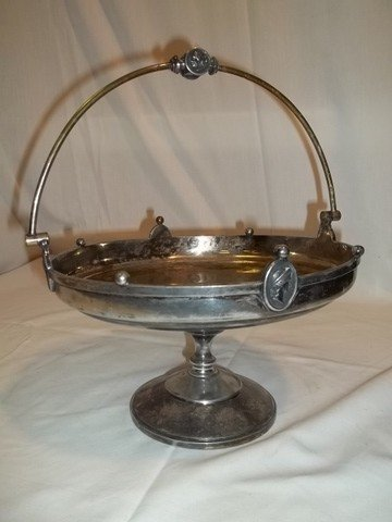 6: Silverplate Serving Dish With Figures