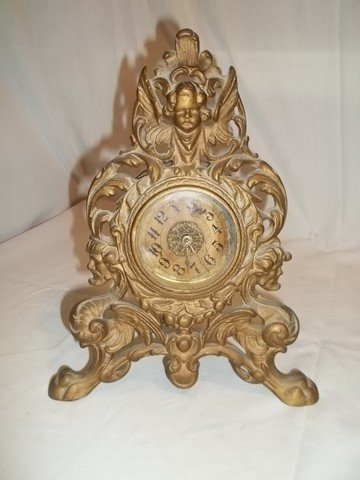 7: Nice Old Clock With Cherubs
