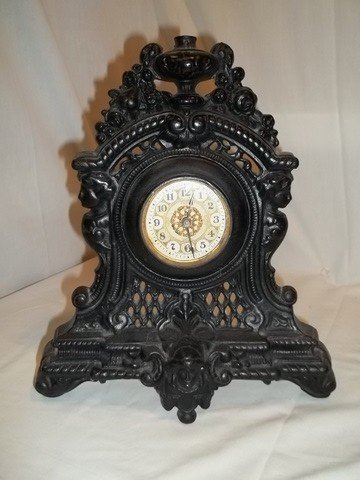 10: Old Cast Iron Clock