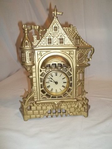 12: Golden Novelty Castle Clock