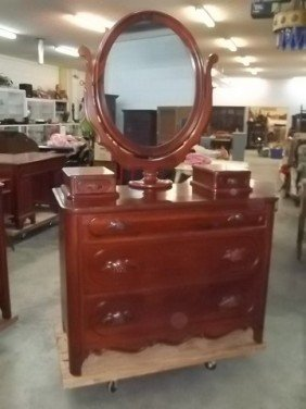 295 Davis Furniture Lillian Russell 1954 Solid Cherry