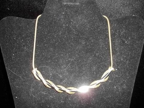 4: Gold Twist Costume Necklace