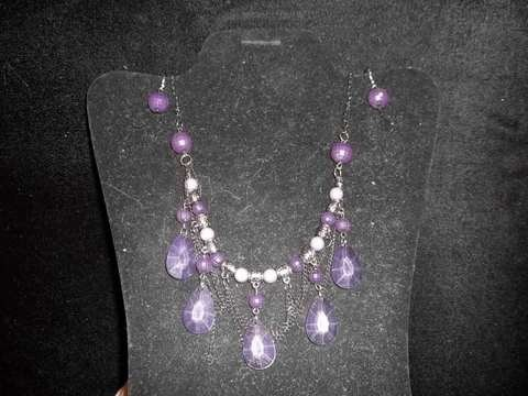 10: Amethyst Costume Necklace & Earings