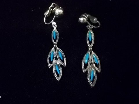 2: Native American Turquiose Style Earings