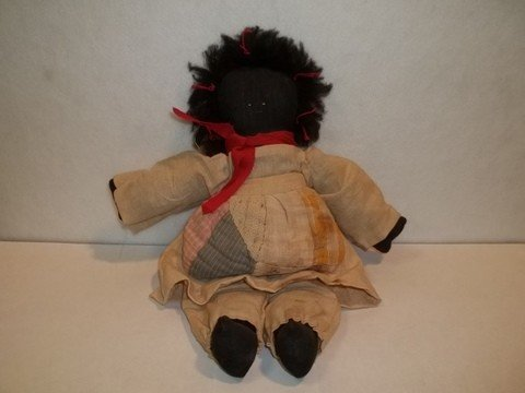7: Old African American Doll