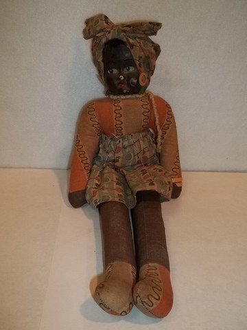 14: Old African American Doll Compo Head