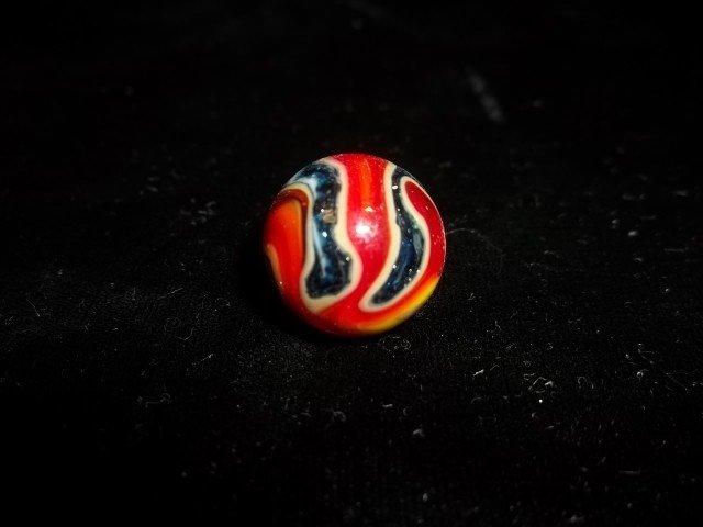 7: Blue Speckle & Ruby Swirl Marble