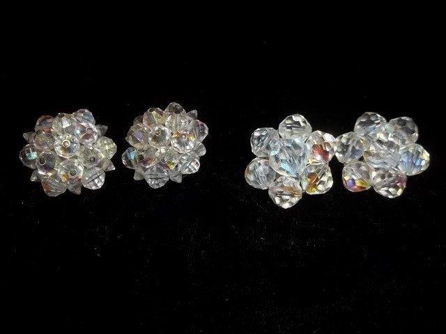21: 2 Sets Crystal Bead Earings