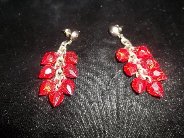 23: Ruby Dangle Costume Earings