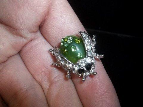 17: Rhinestone Ladybug Ring