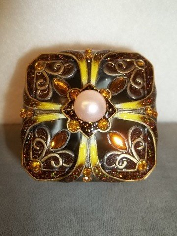 22: Amber Enamled jewel box