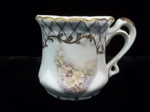 24: Hand Painted Nippon Mustache Cup
