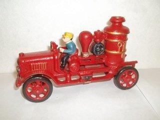 """6: 8"""" Cast Iron Fire Truck"""