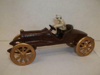 "22: 8"" Cast Iron Race Car Toy"