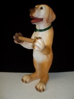 "174: 20"" Yellow Lab Toilet Paper Holder"