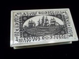 318: Genuine Ivory Sailors Box