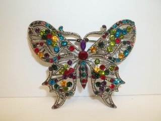 7: Great Butterfly Rhinestone Brooch