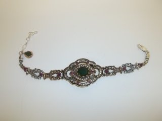 83: Handmade Turkey Sterling Silver Bracelet