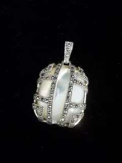 Sterling Silver Jeweled Pendant