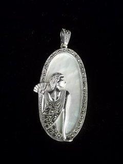 102: Sterling Silver Art Nouveau Pendant