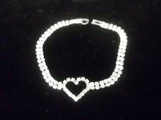 128: Rhinestone Tennis Bracelet