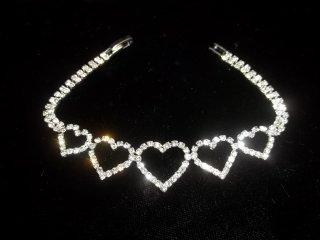 129: Rhinestone Tennis Bracelet