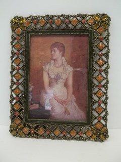144: Jeweled Enamled Photo Frame
