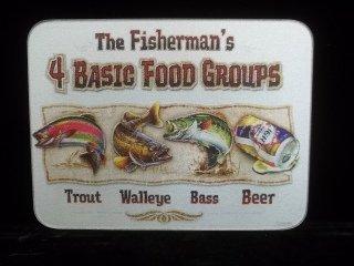 8: Fisherman Tempered Glass Cutting Board