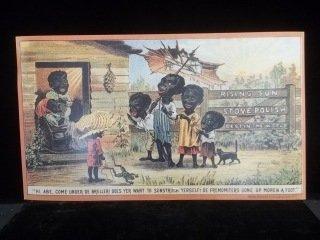 10: Rising Sun Stove Polish Black Americana Sign