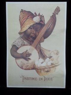 11: Pastime In Dixie Black Americana Sign