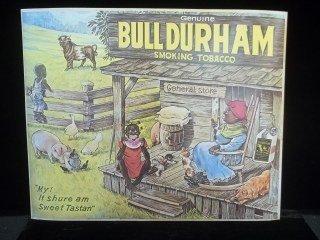 12: Bull Durham Black Americana Tobacco Sign