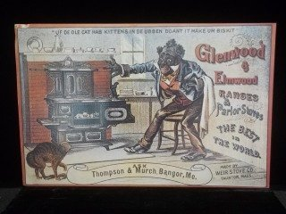 13: Glenwood Stoves Black Americana Sign