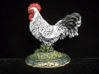 37: Cast Iron Rooster Doorstop