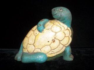 39: Cast Iron Turtle Doorstop 7 Inch