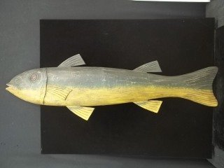 43: Carved Fish Sign 48 Inch